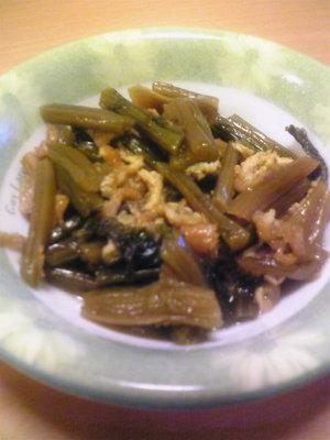 野沢菜煮物