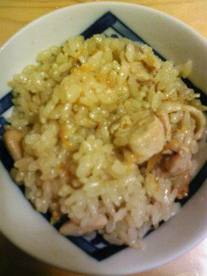 鶏肉炊き込みご飯2
